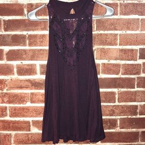 High Neck Beaded and Lace Detail Express Tank Top
